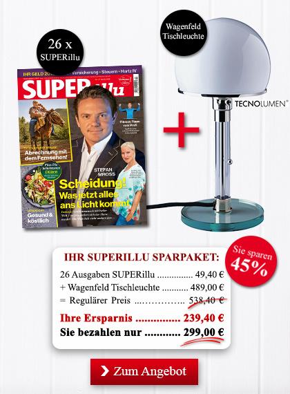 StickyAd SUPERillu Sparpakete Wagenfeld Tischleuchte