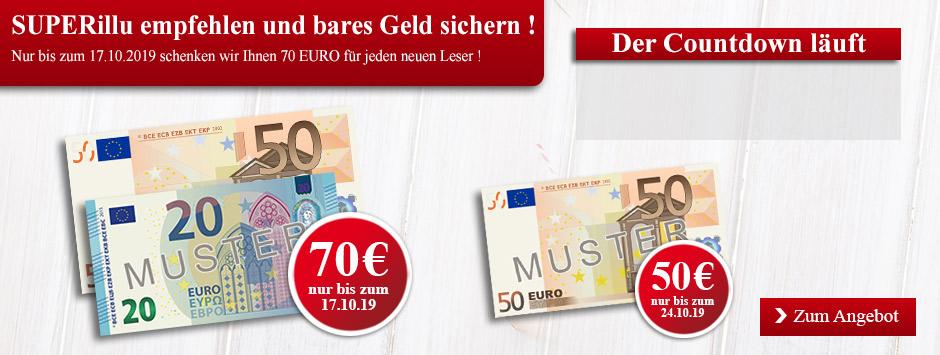 Superillu Countdown-Leser werben Leser 70€ sichern!