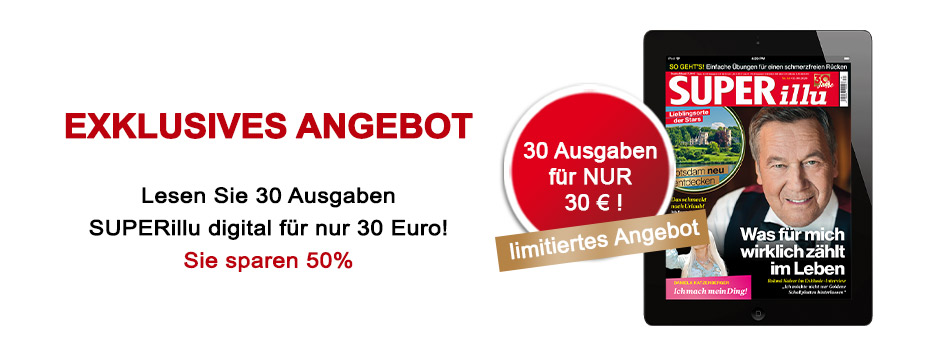 SUPERillu - Jubiläumsangebot - 30 Ausgaben für 30 €