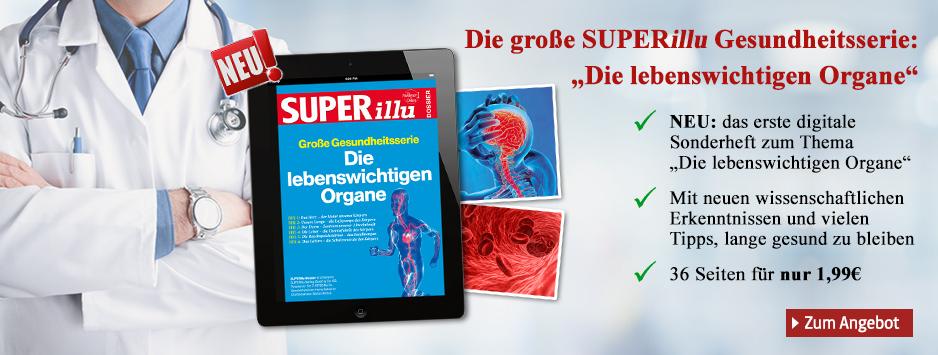 """Die große SUPERillu Gesundheitsserie: """"Lebenswichtige Organe""""n"""