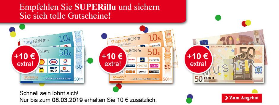 Superillu empfehlen und 60 € sichern!