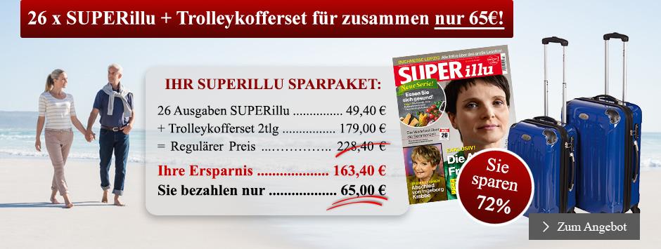 26 x SUPERillu + Trolleykofferset für zusammen nur 65€ sichern!