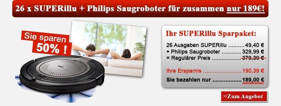 26 x SUPERillu + Philips Saugrobotter für zusammen nur 189€!