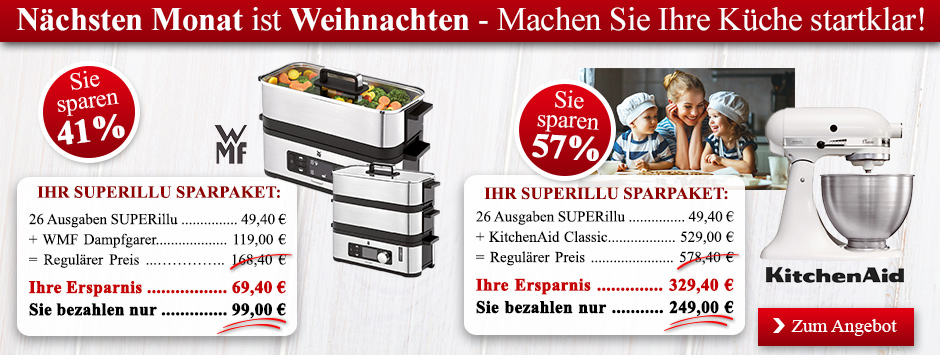 SUPERillu Sparpakete - Dampfgarer KitchenAid