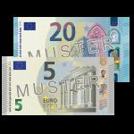 25 € Verrechnungscheck