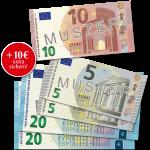 50 € + 10 € Verrechnungsscheck
