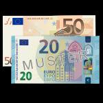 70 € Verrechnungsscheck