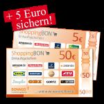 50 € + 5 € ShoppingBON